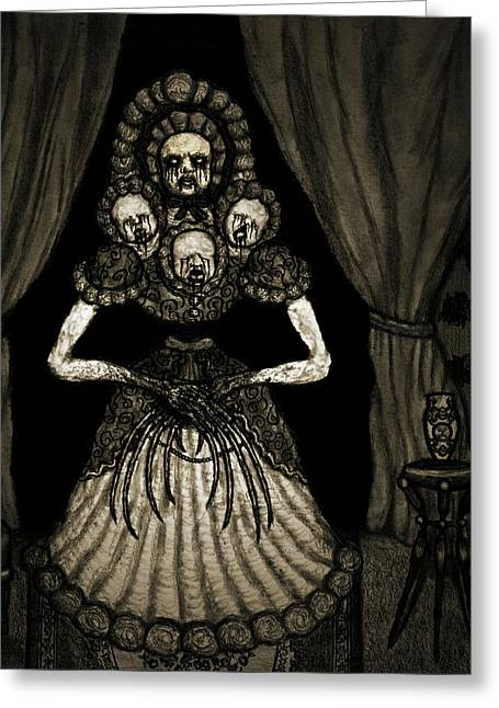 Nightmare Dolly - Artwork Greeting Card