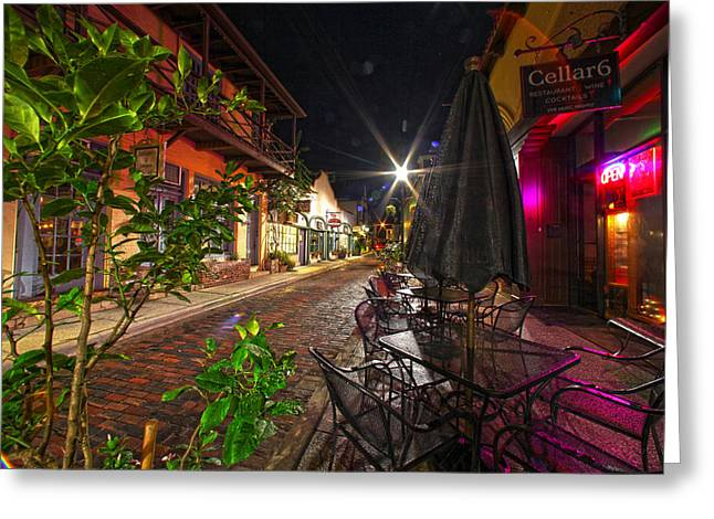 Nights In Oldtown Greeting Card