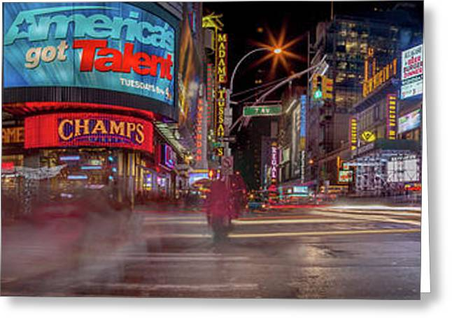 Nights On Broadway Greeting Card by Az Jackson