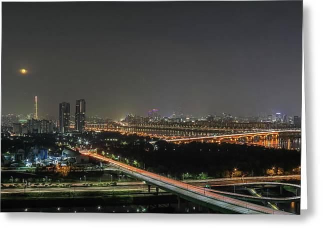 Nightscape Of Seoul Greeting Card