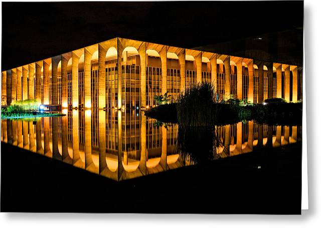 Greeting Card featuring the photograph Nighttime Reflections by Kim Wilson