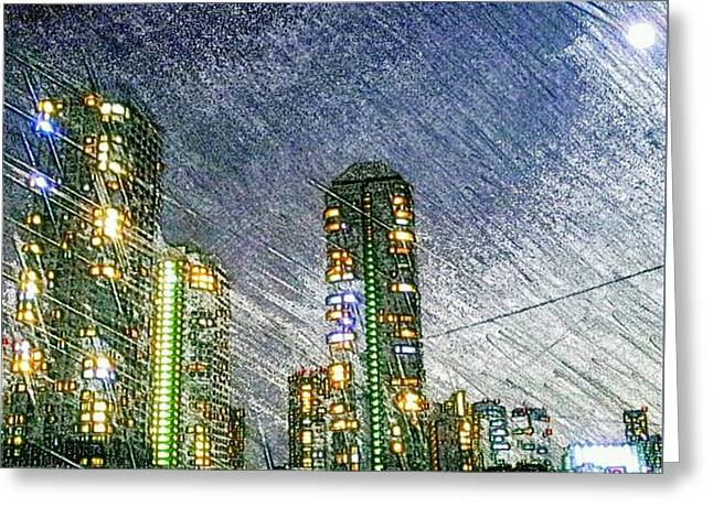 Tokyo River Greeting Card by Daisuke Kondo