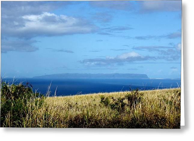 Niihau Island Greeting Card by Annie Babineau