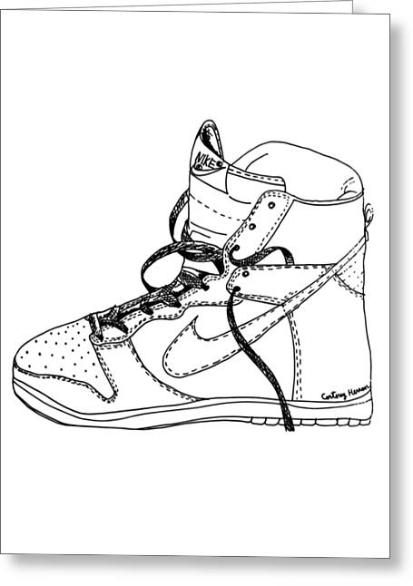 Nike Dunk 001 Greeting Card