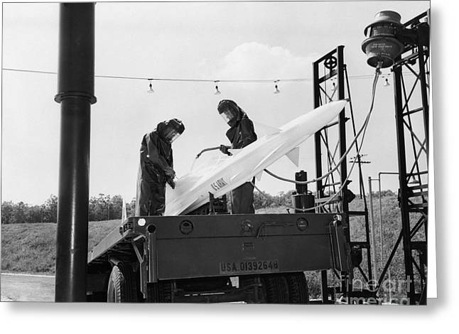 Nike Missile, Us Army Greeting Card