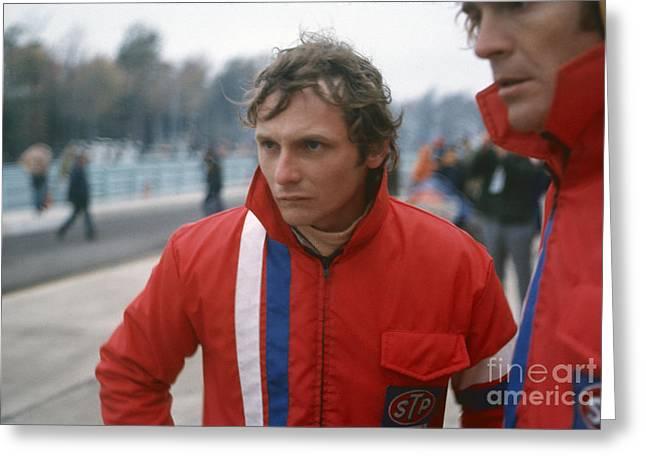 Niki Lauda. 1972 United States Grand Prix Greeting Card by Oleg Konin