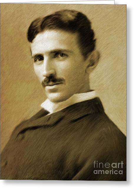 Nikola Tesla, Inventor Greeting Card