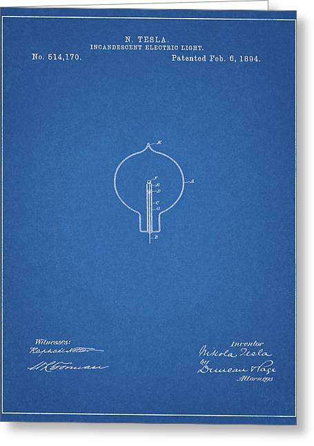 Nikola Tesla Light Patent Greeting Card