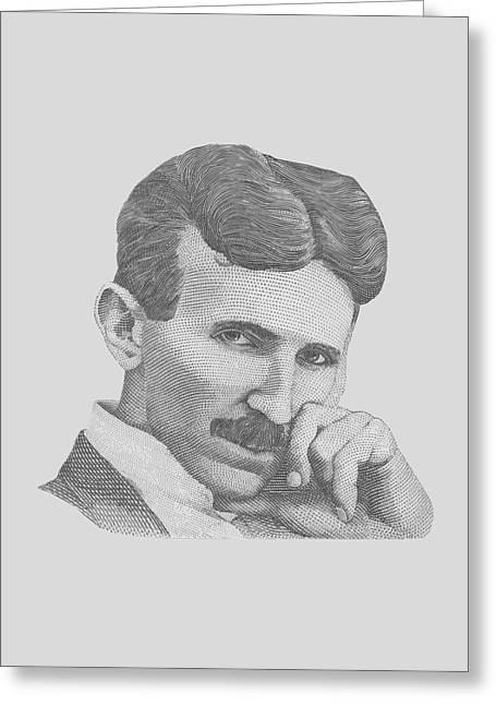 Nikola Tesla Greeting Card by War Is Hell Store