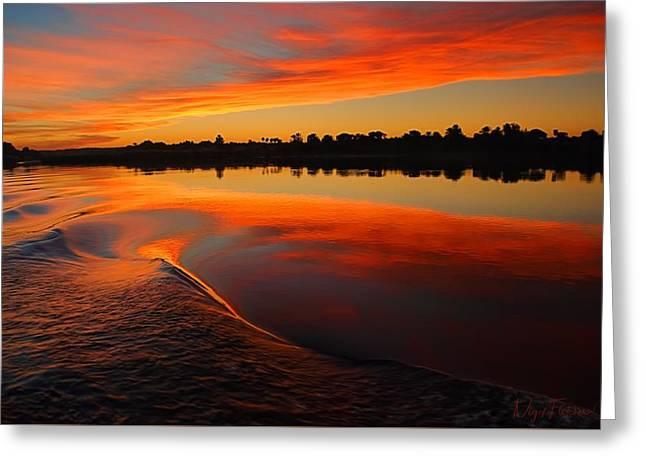 Nile Sunset Greeting Card