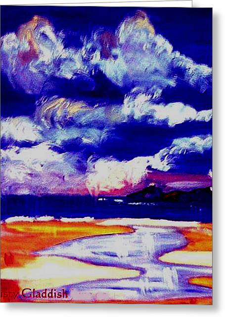 Nimbus Clouds Over Mumbles Greeting Card by Rusty Gladdish