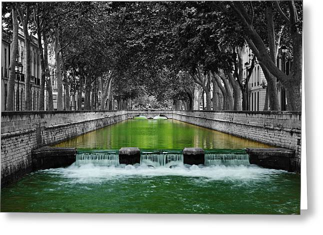 Nimes Boulevard Greeting Card by Scott Carruthers