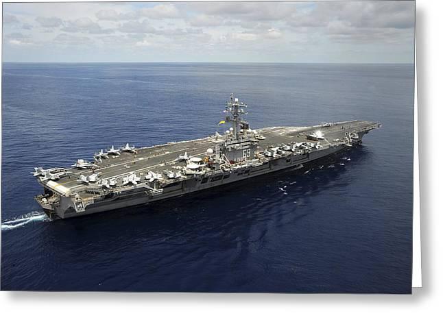Nimitz-class Aircraft Carrier Uss Greeting Card by Stocktrek Images