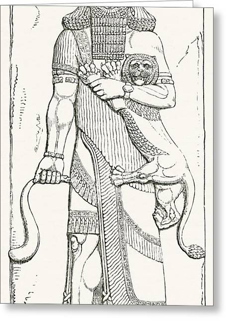 Nimrod, King Of Shinar, From The Palace Greeting Card