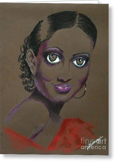 Nina Mae -- African-american Actress Portrait Greeting Card