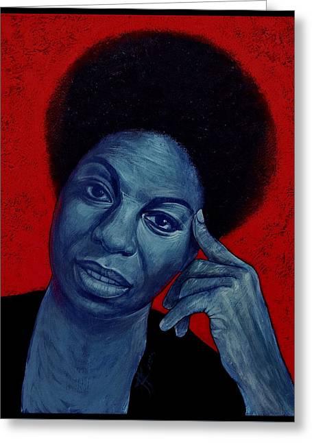 Nina Simone Greeting Card by Jovana Kolic