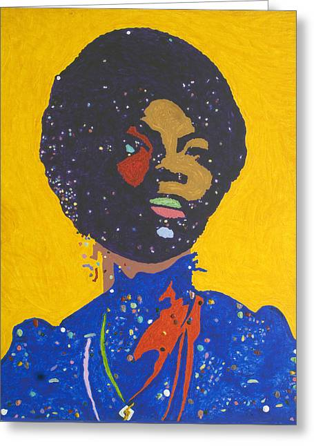 Nina Simone Greeting Card by Stormm Bradshaw