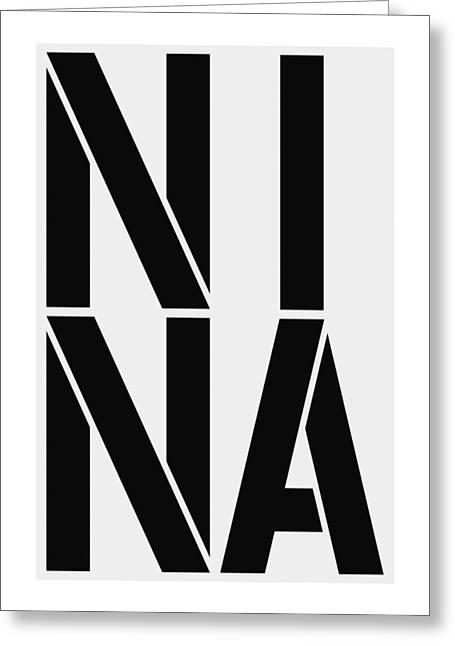 Nina Greeting Card by Three Dots