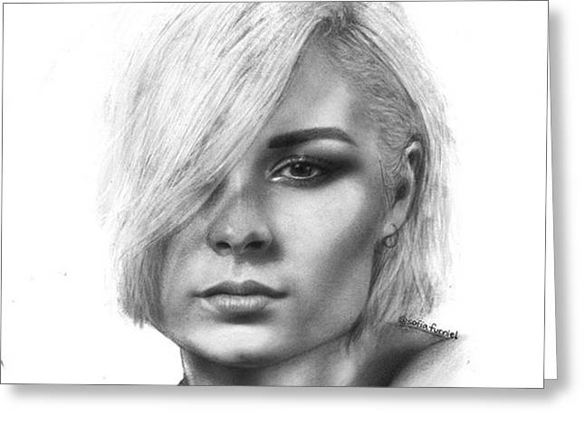 Nina Nesbitt Drawing By Sofia Furniel Greeting Card