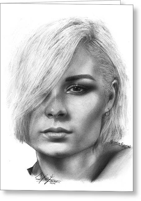 Nina Nesbitt Drawing By Sofia Furniel Greeting Card
