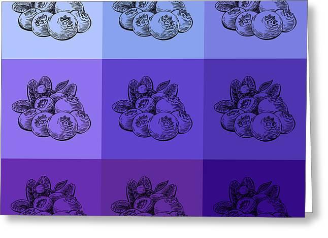 Nine Shades Of Blueberries Greeting Card by Irina Sztukowski