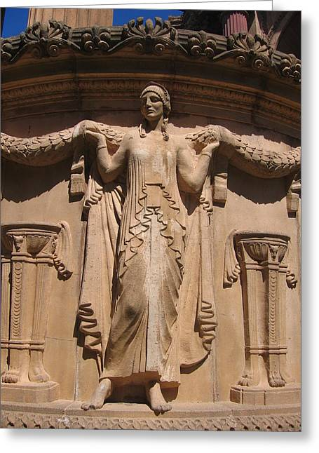 Nine-toed Maiden At The Palace Of Fine Arts In San Francisco Greeting Card by Don Struke