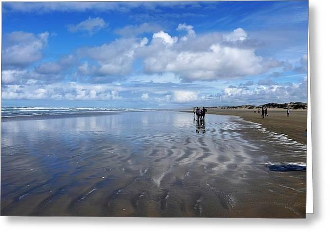 Ninety Mile Beach New Zealand Greeting Card by Heidi Fickinger