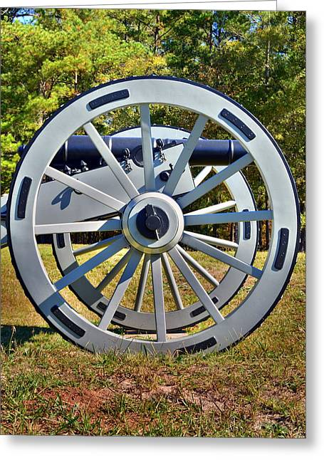 Ninety Six National Historic Site Cannon Wheel Greeting Card