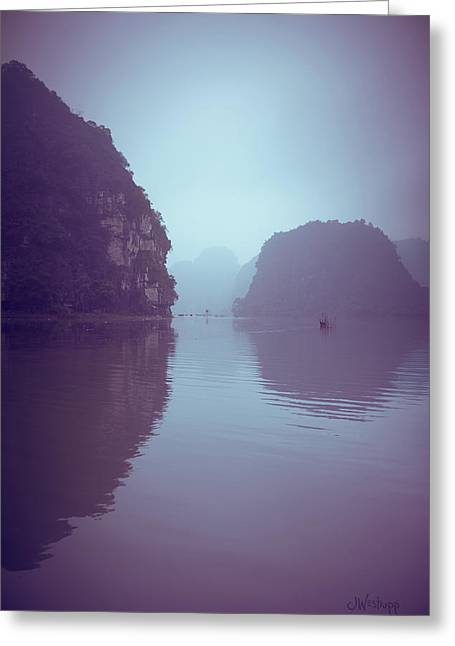 Ninh Binh River Greeting Card by Joseph Westrupp