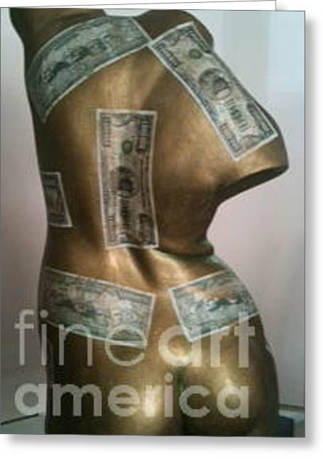Erotic Sculptures Greeting Cards - Ninja Female Trader Greeting Card by Kaayla Halen