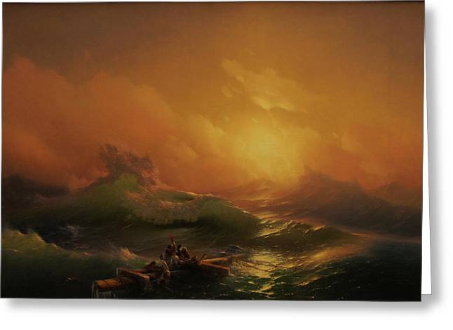 Ninth Wave Greeting Card by Ivan Aivazovsky