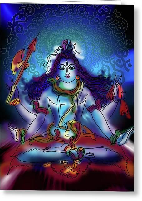 Nirvikalp Samadhi Kapali Shiva Greeting Card