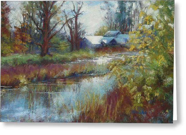 Burst Pastels Greeting Cards - Nisqually Reflections Greeting Card by Beth Brooks