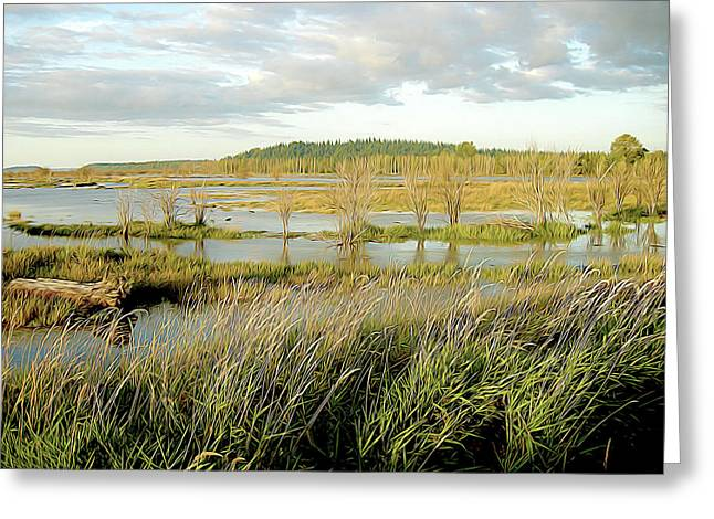 Nisqually Tide Coming In Greeting Card