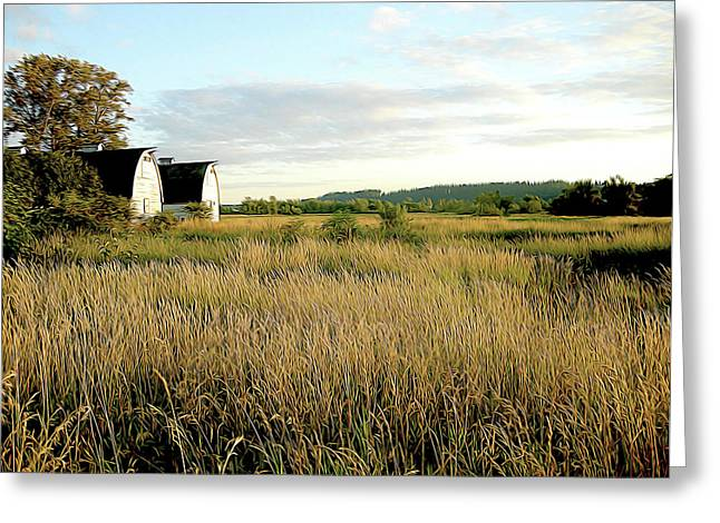 Nisqually Two Barns Greeting Card