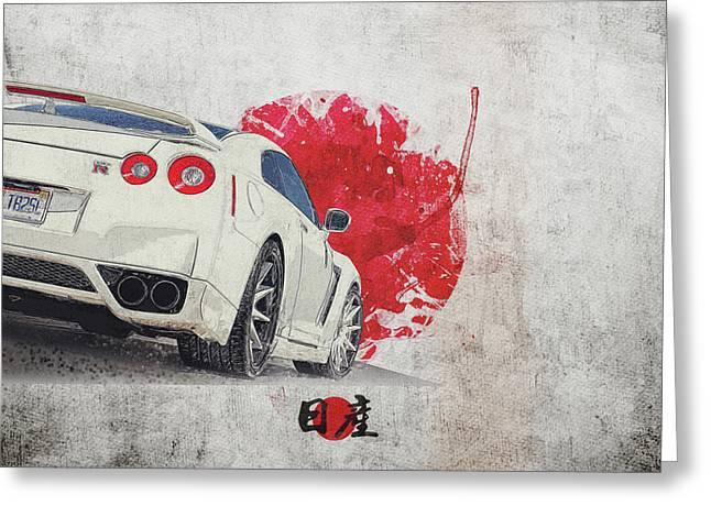 Nissan Gt-r R35 - Skyline - Cba-r35 - Race Car Greeting Card