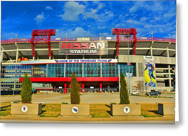 Greeting Card featuring the photograph Nissan Stadium Home Of The Tennessee Titans by Lisa Wooten