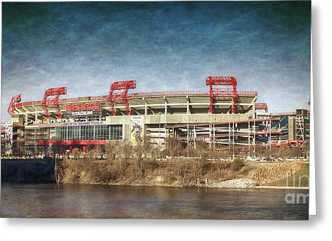 Nissan Stadium Greeting Card by Tom Gari Gallery-Three-Photography
