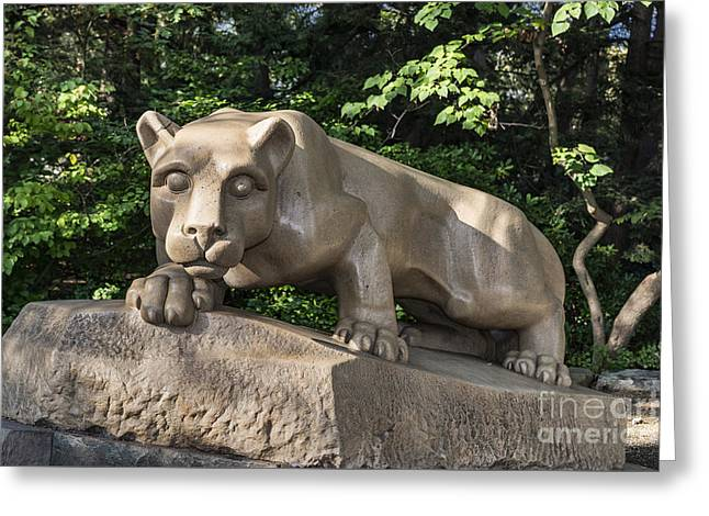 Nittany Lion Greeting Card by John Greim