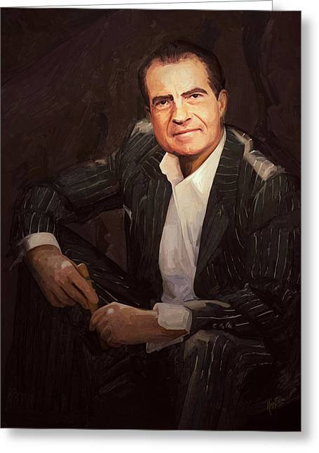Nixon Relax Greeting Card by Nop Briex