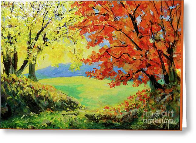 Nixon's Colorful View Of The Blue Ridge Greeting Card