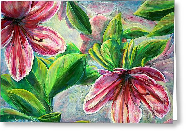 Greeting Card featuring the painting Nixon's Cool Sensations Of Spring by Lee Nixon