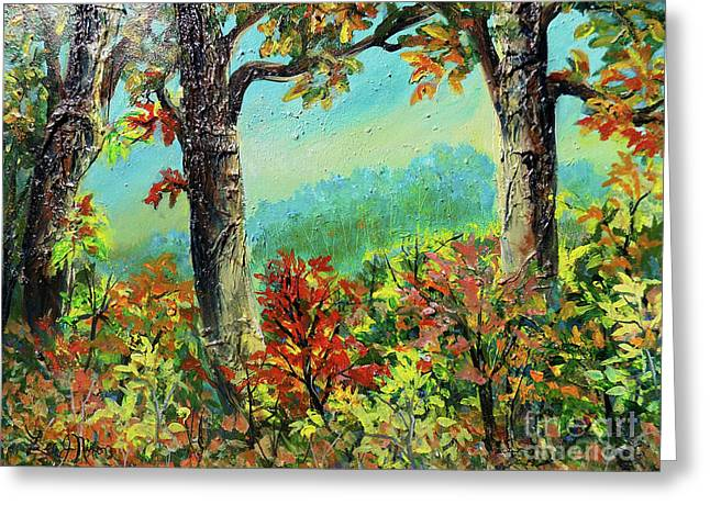 Greeting Card featuring the painting Nixon's Glorious Colors Of Fall by Lee Nixon
