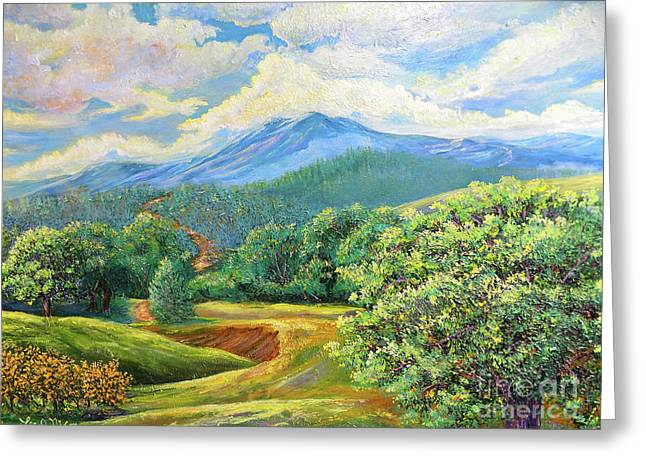 Nixon's Splendid View Of The Blue Ridge Greeting Card