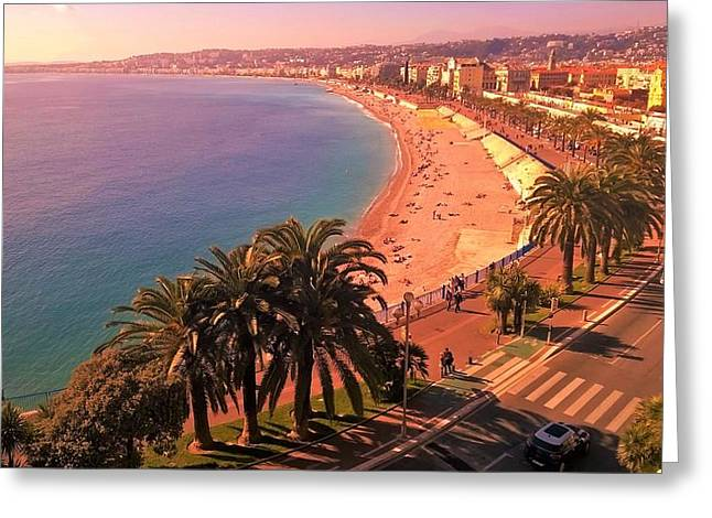 Nizza By The Sea Greeting Card