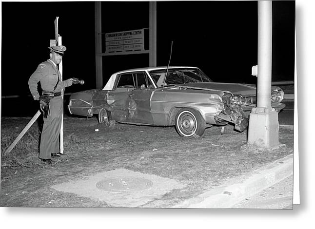 Nj Police Officer Greeting Card by Paul Seymour