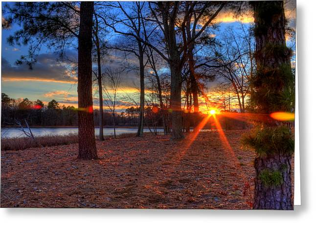 Kevin Hill Photographs Greeting Cards - NJ Sunset November 2010 Greeting Card by Kevin Hill