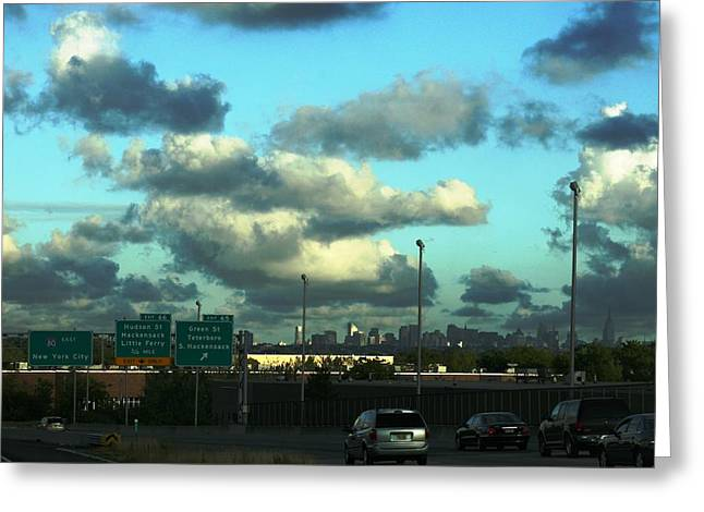 Nj To New York  Greeting Card by Paul SEQUENCE Ferguson             sequence dot net