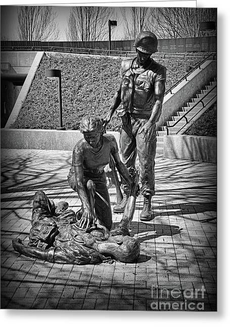 Nj Vietnam Veterans Memorial Greeting Card by Paul Ward