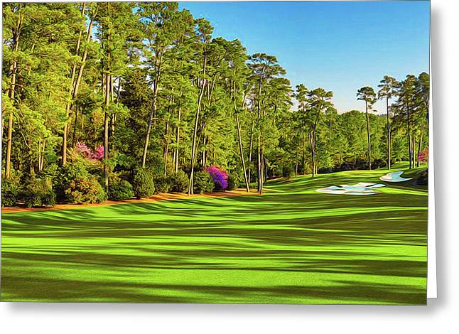 No. 10 Camellia 495 Yards Par 4 Greeting Card by Don Kuing